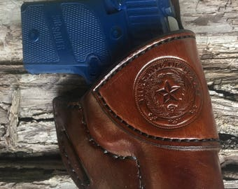 SIG P938 Custom Handmade Holster-State of Texas Seal