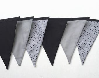 Fabric Banner- Fabric Bunting Flag- Room Decor
