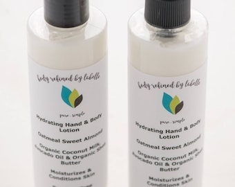 Oatmeal Lotion | Almond Lotion | Vegan Lotion | Natural Lotion | Shea Butter Lotion | Organic Lotion | Body Lotion | Hand Cream | Gift Set