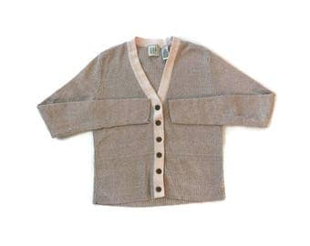 Vintage Two Toned Button Up Cardigan