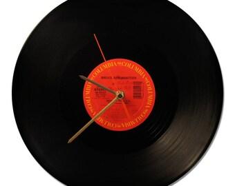 "BRUCE SPRINGSTEEN VINYL clock ""COVER ME"" 33tours"