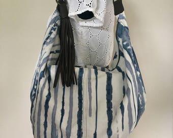 TANO Leather Hobo Shoulder Bag Purse