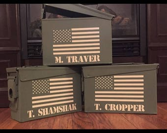 Personalized ammo boxes, groomsmen ammo boxes, ammunition boxes, best man, father of the groom, groomsmen gift