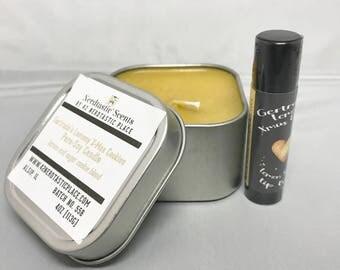 Lemon X Mas Cookie Lip Balm and Candle Set