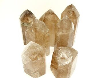 10% off July 4th Smoky Quartz Point -- Generator -- High Quality Large Smokey Quartz Points from Brazil - Manufacturer Direct -- Root Chakra