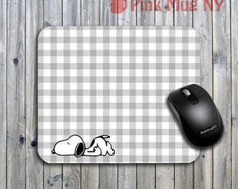 Personalized computer Mouse pad, gift idea, desk accessory - Snoopy