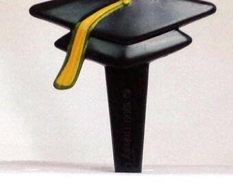 12 Graduation Cap Hat Cupcake Picks Cake Toppers Party Favors