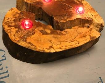 Reclaimed Wood Candleholder; beech wood; christmas candleholder; housewarming, new home, Fifth anniversary gift; Scottish Wooden Gift;