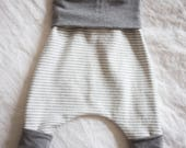 Organic Slouchy Pants with Gray Bamboo Cuffs