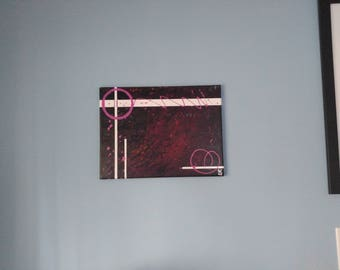 Abstract Canvas Art for Home Décor or Wall Art – 'Sophistication' an Acrylic Painting by Kenneth Polisse Jr.