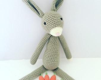 MADE TO ORDER Mr Floppy Rabbit Amigurmi Bunny Rabbit Newborn Gift Newborn Toy Handmade Toy Amigurumi Rabbit Baby Gift Babyshower Gift