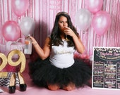 Adult Cake Smash Birthday Chalkboard - Fun - Any Age - Any Colors - Any Style - Printable or Photoshop - Digital File - 16x20