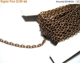 50% OFF Clearance Sale-- Antique Copper Textured Links-Opened Cable Chain ( No.721)