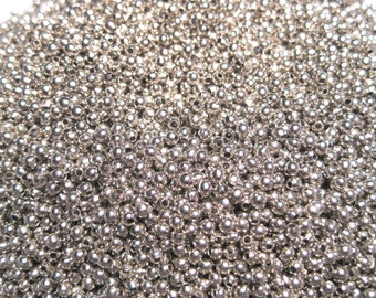 Silver Tone  2mm Smooth Ball Spacer Beads