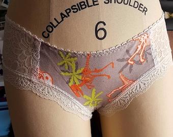 Neon Dinosaur T-Rex Skeleton Women's Soft Cotton Panties Underwear