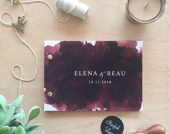 Burgundy Perfection - Guest Book 26 page