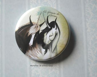 pair of Unicorn brooch pin badge