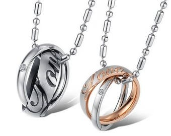 Writing Our Love Story - Engraved Necklaces for Her / Personalized Necklaces for Him / Couples Necklaces / Custom Engraved