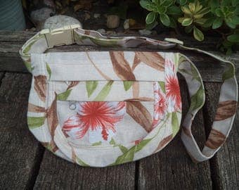 Floral canvas fanny pack,hip bag