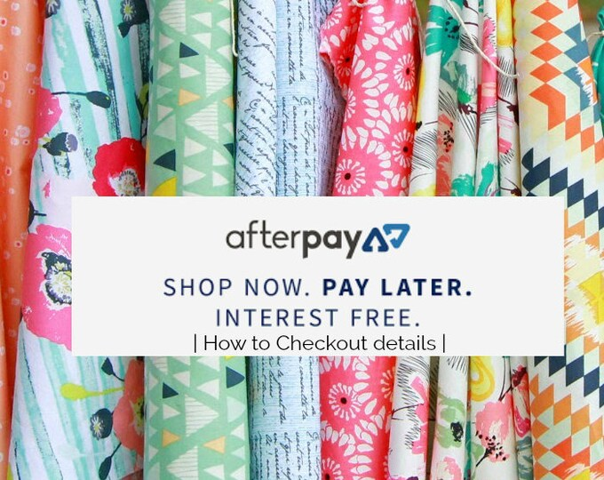 Featured listing image: Fabric Order - After Pay it | all Fabrics - for Australian Customers | Information  - How to Details  | Quilting, Sewing, Stash Builders