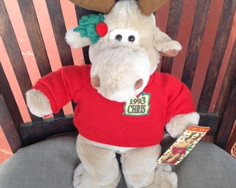 Chris Moose Christmas Stuffed Animal