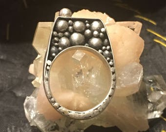 Avant-garde Bubble Ring 92.5 Antiqued Silver US size 8 1/4