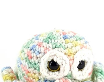 Octopus/Baby Octopus/Crochet Octopus/Ready to Ship/Stuffed Octopus/Amigurumi/Rainbow/Ocean Animal/Sea Creature/Baby Toy/Teething Toy