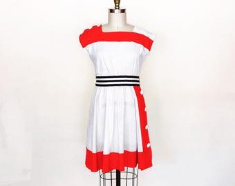 America's Sweetheart Dress | vintage 1980s color block dress | size large