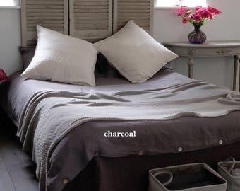 Washed Linen Duvet Cover, Linen Bedding, French Linen Bedding, Queen, King Duvet Cover, Doona Cover, Linen Comforter Cover