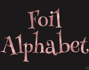 Rose Gold Foil Alphabet Clipart 81 Images PNG Files Letters Numbers Special Characters Commercial Use Graphics Digital Clip Art