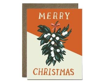 Merry Christmas Mistletoe Card