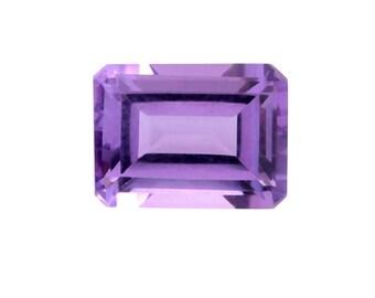 Pink Amethyst Octagon Cut Loose Gemstone 1A Quality 8x6mm TGW 1.20 cts.