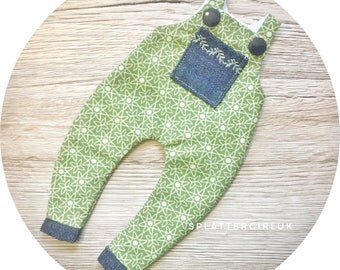 Green Blythe Overalls / Dungarees