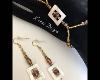 Women's slave bracelet with earrings