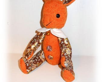 Bunny fabric and orange printed floral