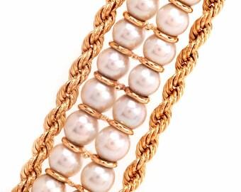 Pearl 14k Gold Bracelet