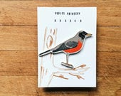 "little bird brooch ""orange robin bird"" /  bird brooch, pin brooch, bird pin, robin brooch, orange robin pin, American robin bird"