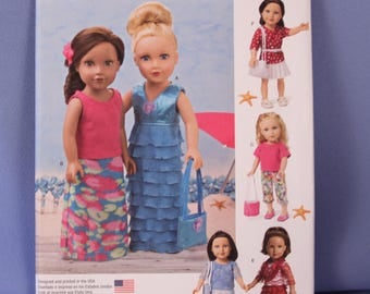 "Simplicity Pattern #1178, 18"" Doll Clothes, New & Uncut"