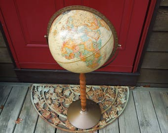 replogle floor standing world globe vintage world classic series home decor bohemian office