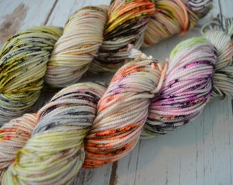 Monster Mash Hand Dyed Worsted Weight Yarn