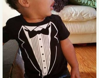 ON SALE Tuxedo Shirt - Infant Bodysuit or Kid's T-Shirt