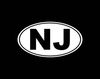 New Jersey Decal, NJ State Decal,New Jerseyan,NJ State Decals,New Jerseyite Stickers Vinyl Die-Cut Car Decals,Home State Decals