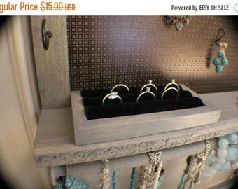 ON SALE Velvet Ring Holder Upgrade, Add On For Your Jewelry Organizer