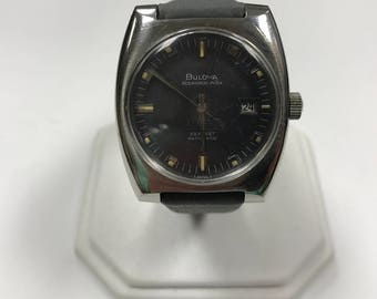 d147 Vintage Original Bulova Oceanographer 333 Feet Automatic 1970's Wrist Watch