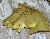 Metal Horse Heads, Assemblage, Woodworking, Scrapbooking and More  #132-AS