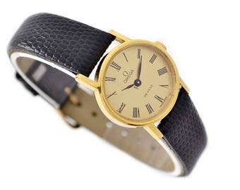 Vintage Omega De Ville Cal.625 Manual Wind Gold Plated Ladies Petite Watch 1428 - Make Me An Offer!