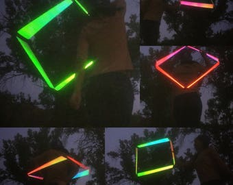 """27"""" Morphing Prism 5/8 Polypro Reflective  Squoop (Square Hoop)"""