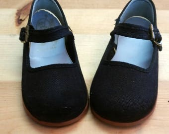 Vintage Baby Shoes Black Mary Janes Step & Stride Vintage Size 5 (Baby)