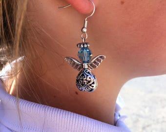 "Angel Jewelry, Angel Birthstone Earrings, ""Belinda"""