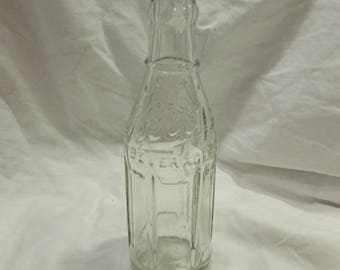 Soda Pop Bottle, Kelly's Beverages, 6 1/2 oz, Clear Glass